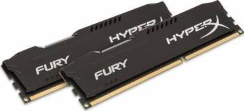 Memorie Kingston HyperX Fury Black 16GB Kit 2x8GB DDR4 2400MHz CL15 Dual Rank