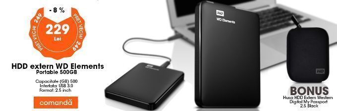 HDD extern WD Elements Portable 500GB