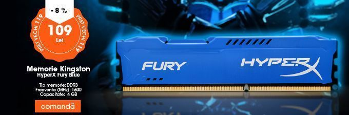 Memorie Kingston HyperX Fury Blue 4GB